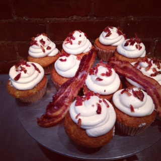 Maple Bacon Cupcakes from One Cup Two Cupcakes