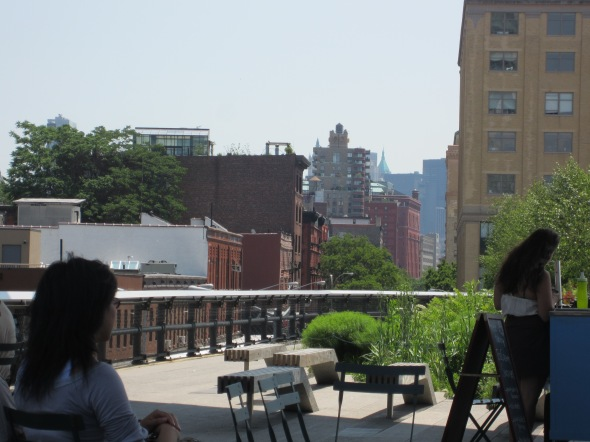 Summer City Streets from an Elevated Railroad Park :)