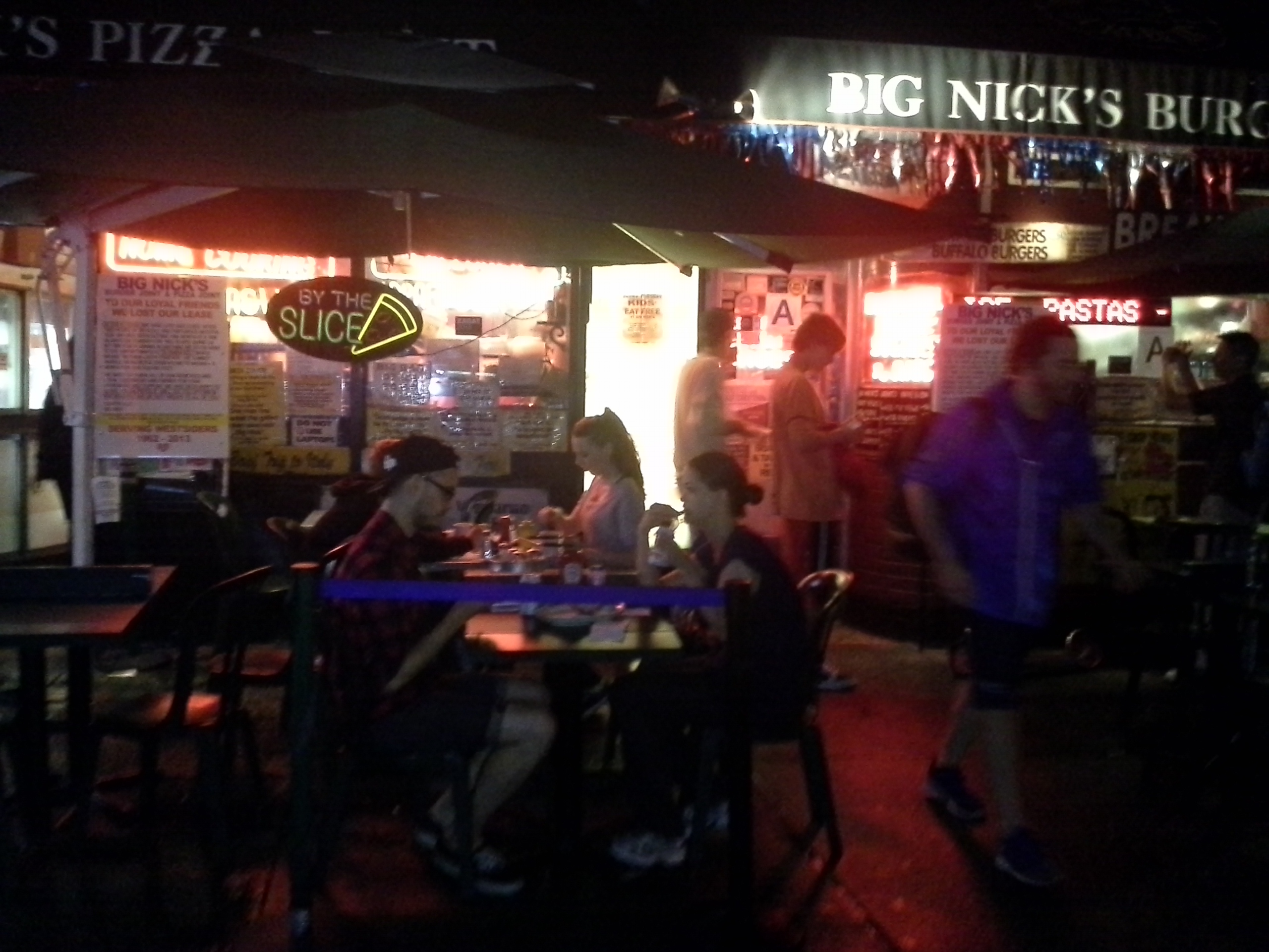 The final night of operation for Big Nick's Burger Joint & Pizza Joint.