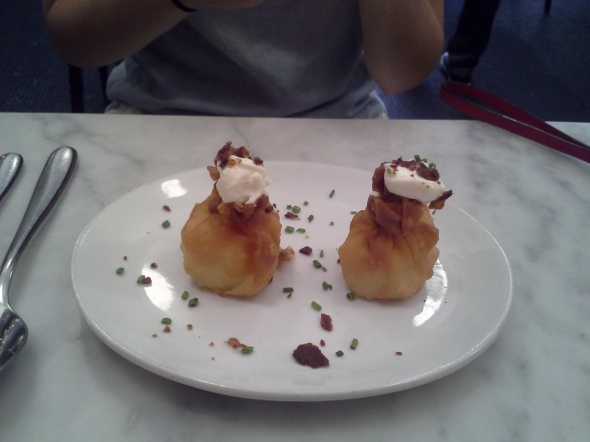 Mini knish with veal bacon!